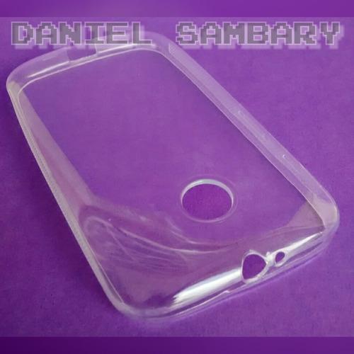 capa tpu moto e silicone transparente +película vidro oferta