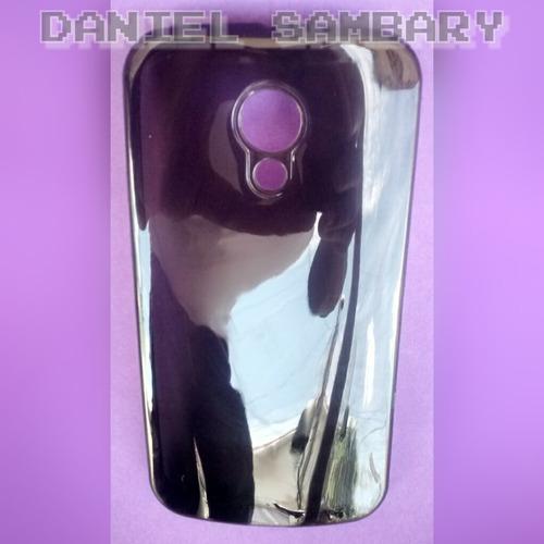 capa tpu moto g2 xt1068 silicone transparente+película vidro
