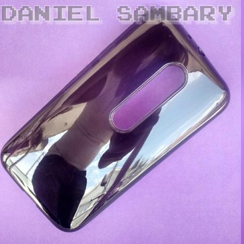 capa tpu moto g3 xt1543 silicone transparente+película vidro