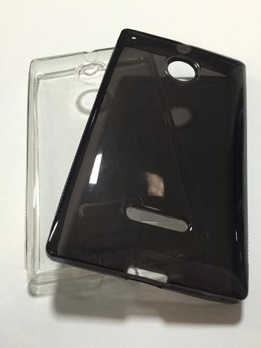 capa tpu nokia lumia 435 + película vidro temperado