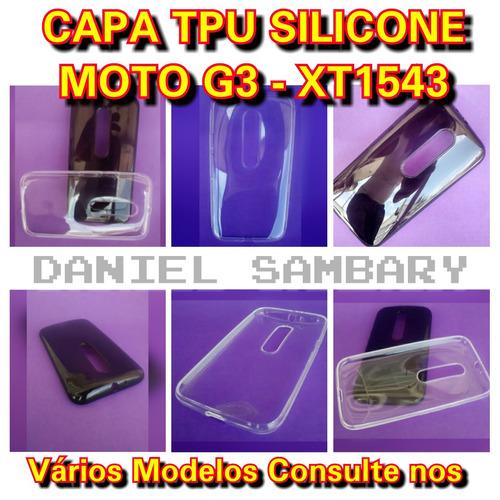capa tpu para motorola moto g3 xt1543 silicone fume oferta!!