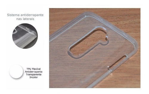 capa tpu premium flexível lg leon h326 + película de vidro