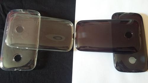 capa tpu premium moto e dtv xt1021 xt1022 xt1025 + pelicula