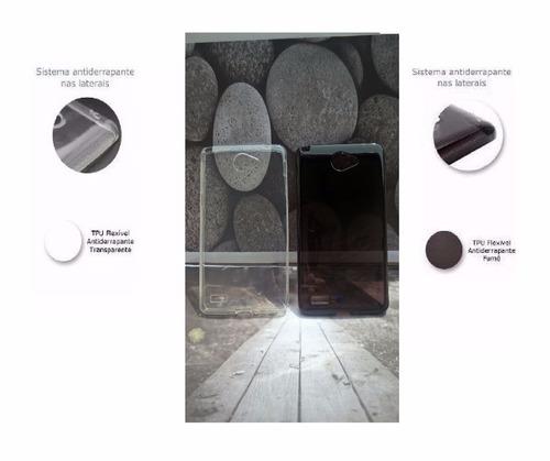 capa tpu premium + película vidro lg l prime plus 2 ii xt170