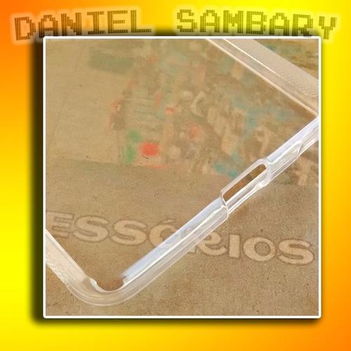 capa tpu silicone xperia m5 e5606 e5603 + pelicula de vidro