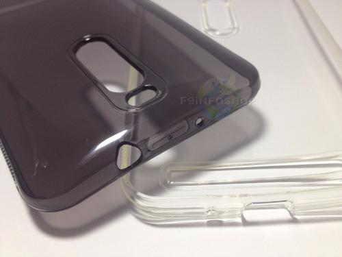 capa tpu silicone zenfone 2 transparente/fume 10 pçs atacado
