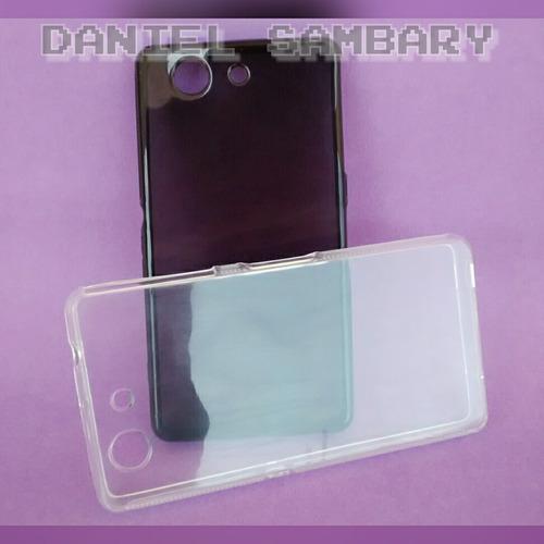 capa tpu sony xperia z3 d5833 transparente+película de vidro