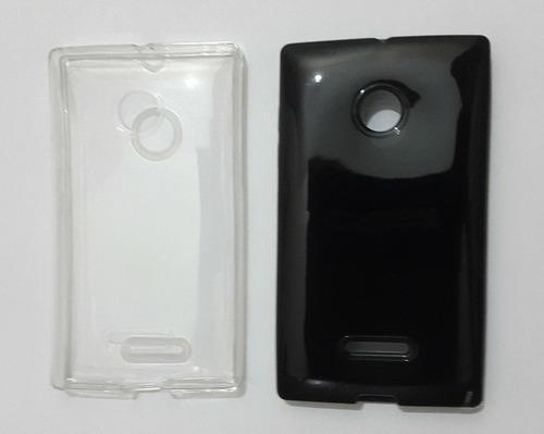capa tpu top premium microsoft nokia lumia 435 e 435 dual