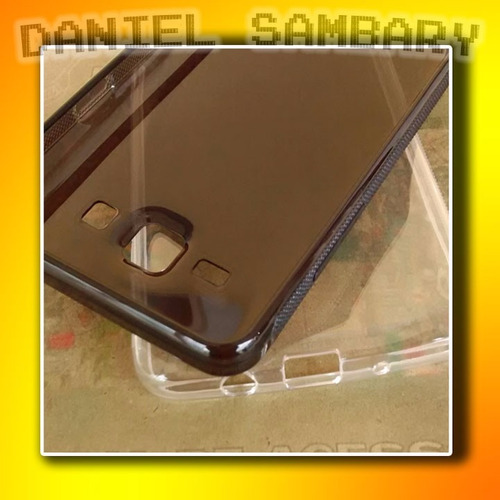 capa tpu transparente fume galaxy on 5 g550 + película vidro