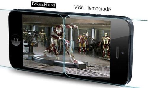 capa tpu transparente iphone 6s plus 5,5 + película de vidro