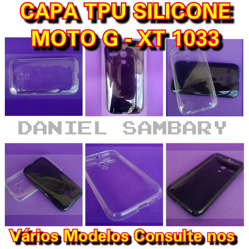 capa tpu transparente moto g xt1031 xt1032 xt1033 silicone