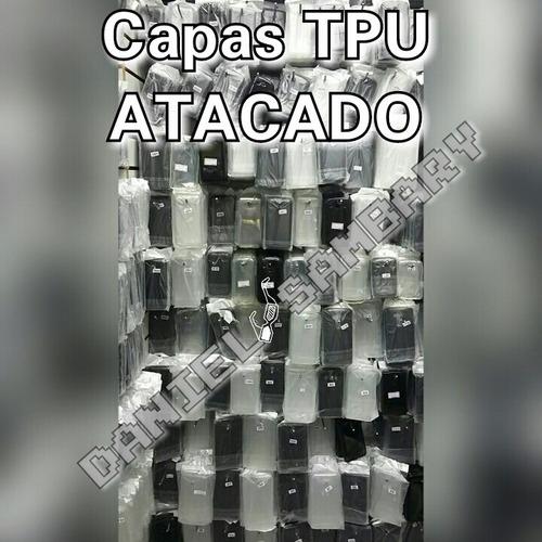 capa tpu transparente ou fume silicone 50 peças atacado