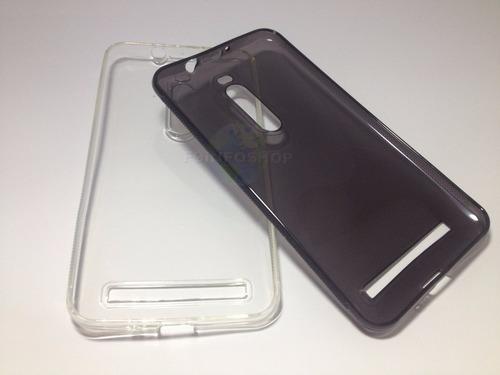 capa tpu transparente + película d vidro temperado zenfone 2