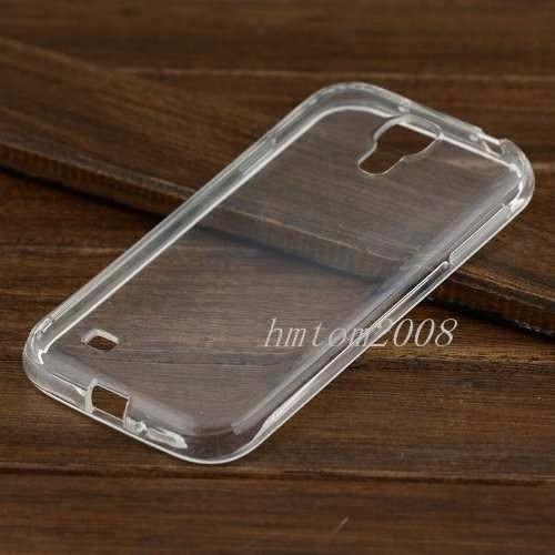 capa transparente galaxy s4 i9500 tpu flexível + película