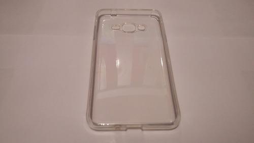 capa transparente tpu + pelicula de vidro galaxy gran prime