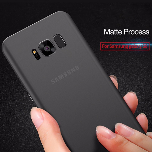 capa ultra fina 0.4mm samsung galaxy s8+ plus preto fosco
