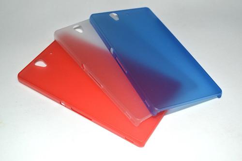 capa ultra slim 0,5 xperia z l36h c6603 c6602 - frete grátis