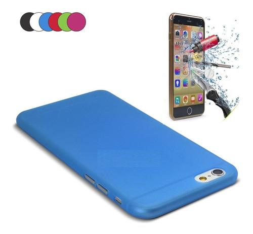 capa ultrafina 0,3mm iphone 6 6s plus (5,5 ) +película vidro