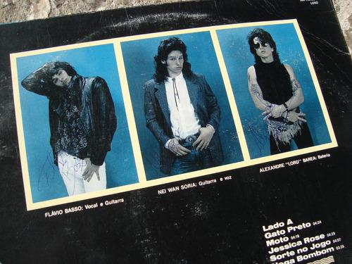 capa vinil os cascavelletes rock'a'ula autografado / só capa