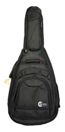 capa violão clássico custom sound preta