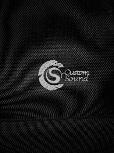 capa violão folk custom sound preto c/ roxo