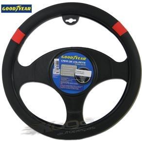 capa volante goodyear eco couro 38cm preto e vermelho