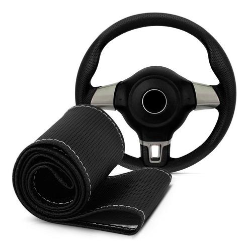 capa volante preta costura cinza