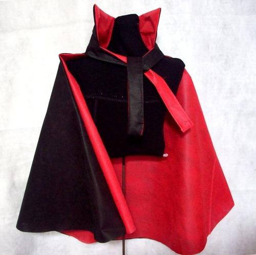 capa y careta disfraz dracula niños 4-8 halloween brovillnet