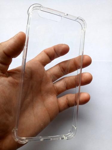 capa zenfone 4 ze554kl 5.5 transparente impacto + pel. gel