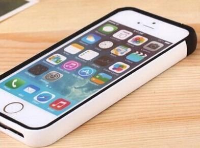 capa/case para iphone 5 e 5s preto/branco