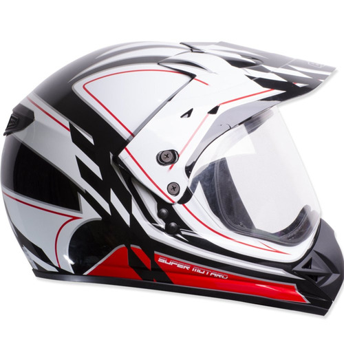 capacete 58 ebf engate micrométrico gride cross branco preto