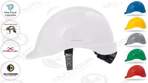 capacete aba frontal classe b - catraca -  ca35983 steelflex