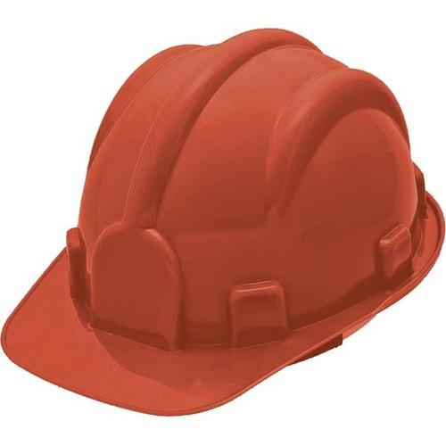 capacete aba frontal segurança classe ab vermelho delta plus