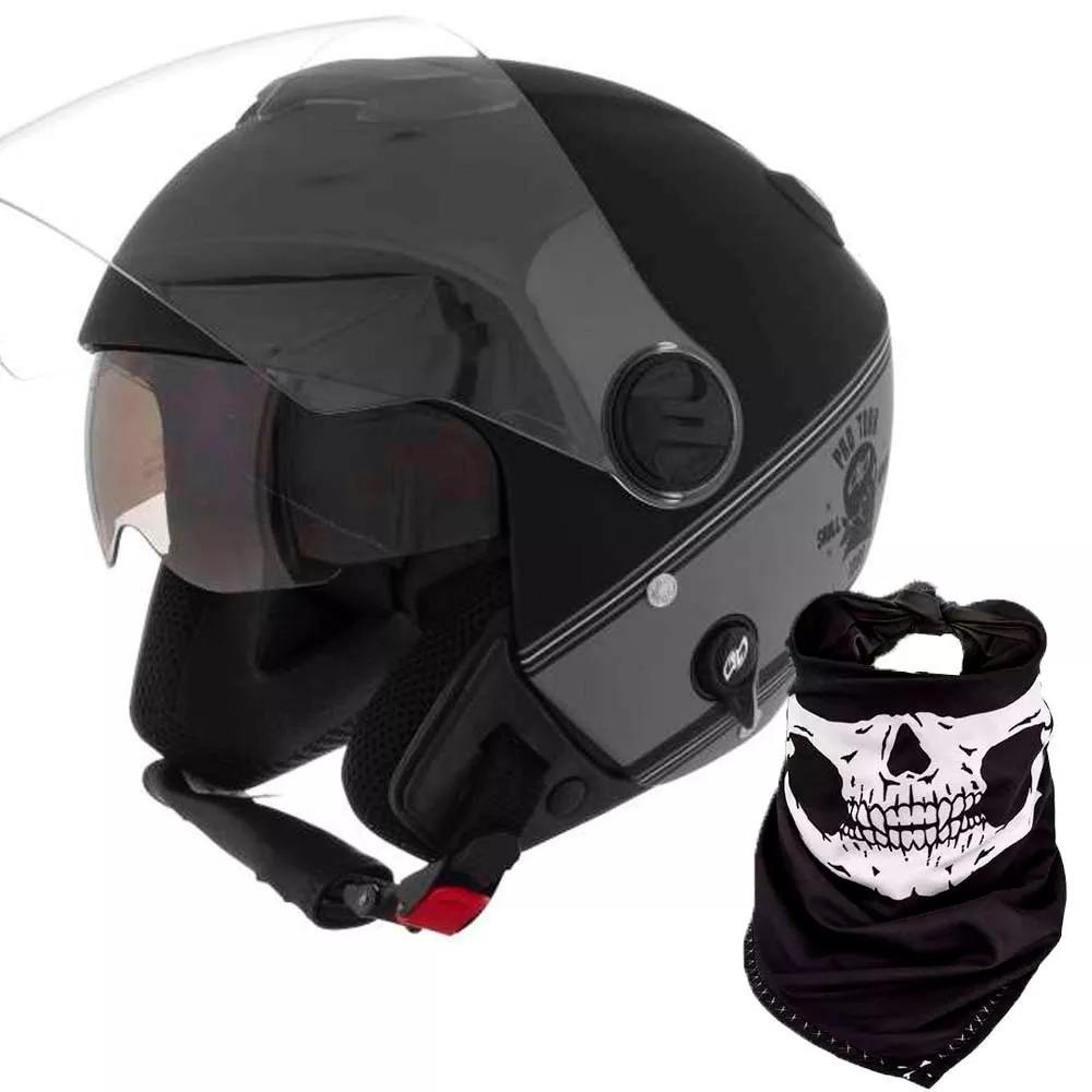 Capacete Aberto Custom Protork New Atomic Skull 56 58 60 - R  205 868f7c9d146