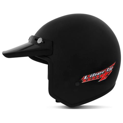 capacete aberto liberty two abs natural pro tork preto 58