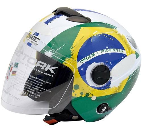 capacete aberto moto viseira solar motoqueiro brasil esporte