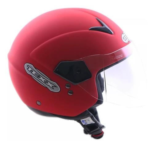capacete aberto motoqueiro texx gama - vermelho