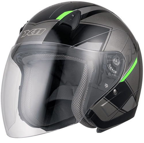 capacete aberto motoqueiro x11 freedom metric moto a vista