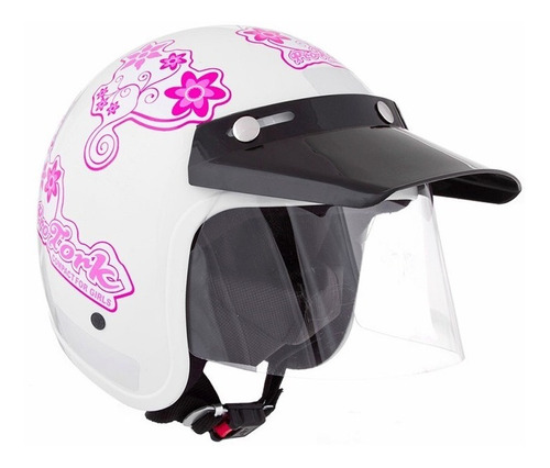 capacete aberto pro tork liberty compact for girls branco