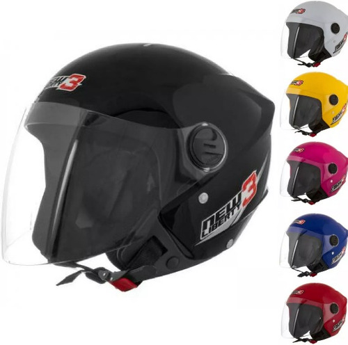 capacete aberto protork new liberty 3 three moto - cores