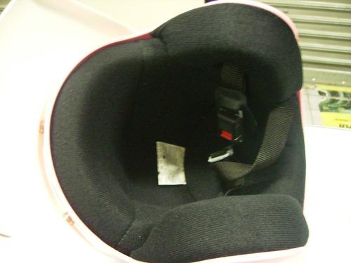 capacete aberto rosa 56 engate rapido marca ags