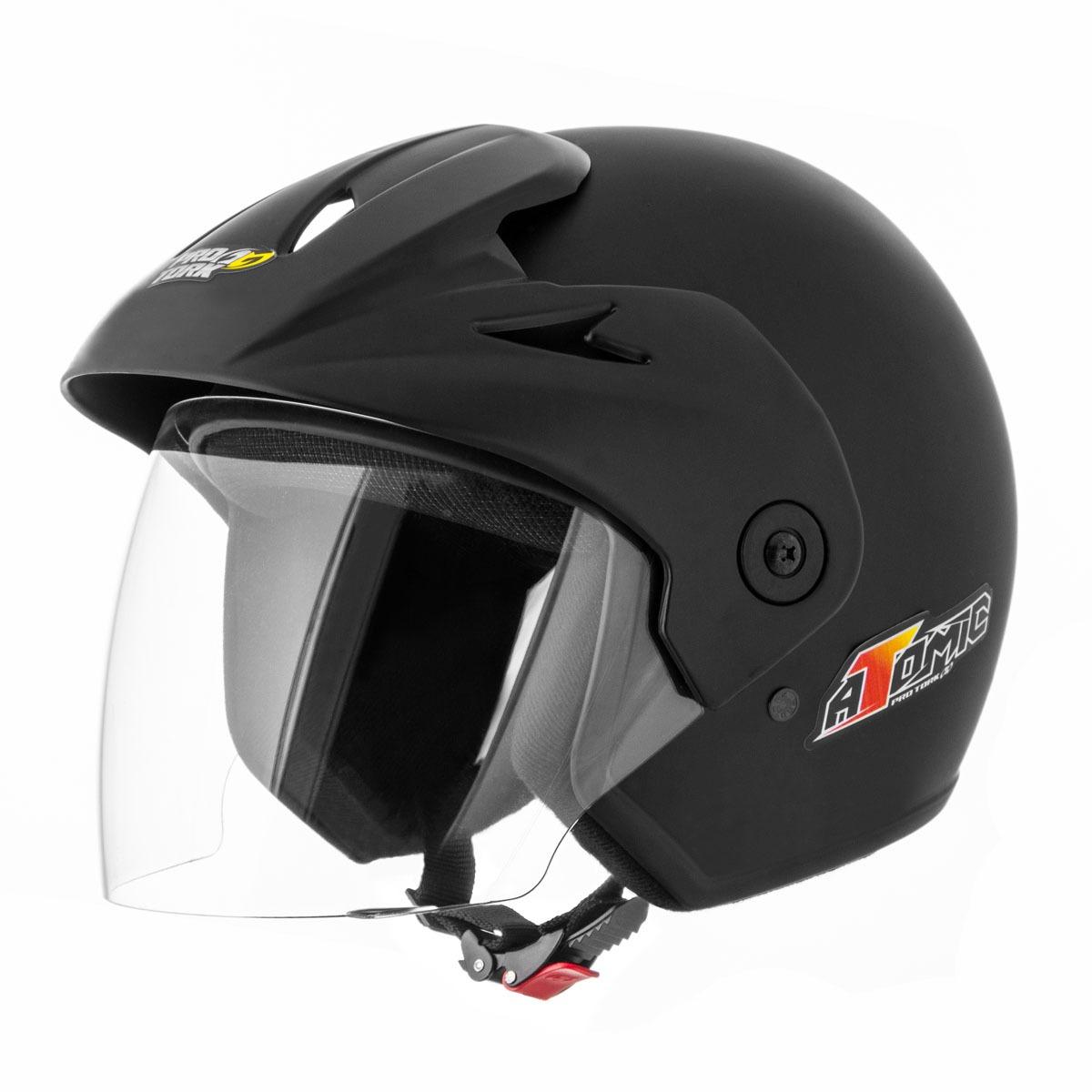 capacete aberto viseira atomic - preto fosco frete grátis. Carregando zoom. 9077197abe2
