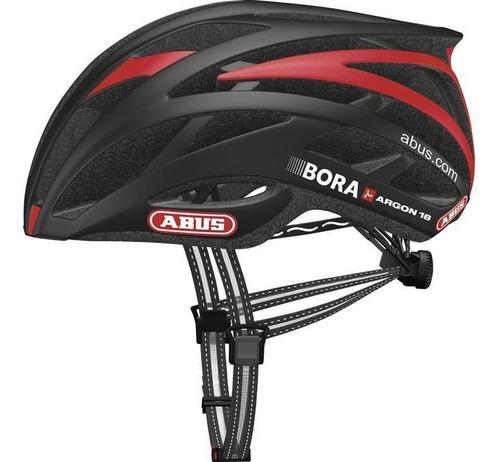capacete abus tec-tical 2.0 bora  preto/verm. m, promoção