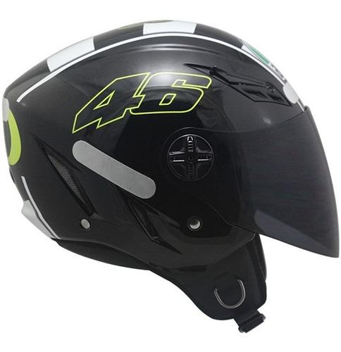 capacete agv blade celebr 08 v.r preto frete grátis rs1