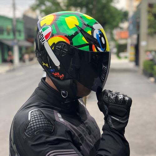 capacete agv blade turtle tartaruga aberto valentino rossi