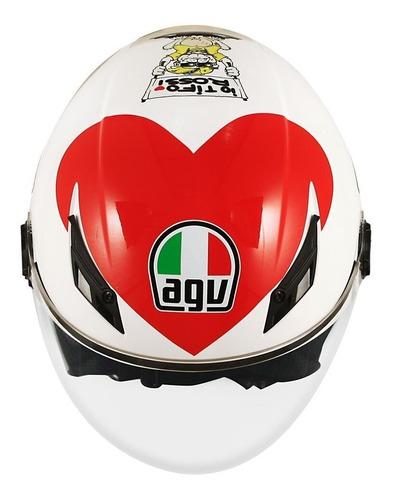 capacete agv blade valentino rossi heart coração 100% original
