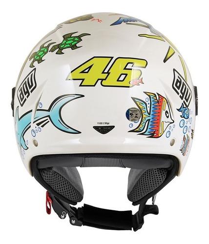 capacete agv blade white zoo branco original vr46 rossi
