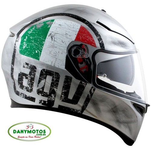 capacete agv k-3 sv réplica scudetto com viseira solar