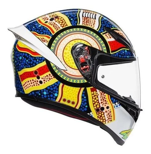 capacete agv k1 dreamtime moto gp valentino rossi masculino
