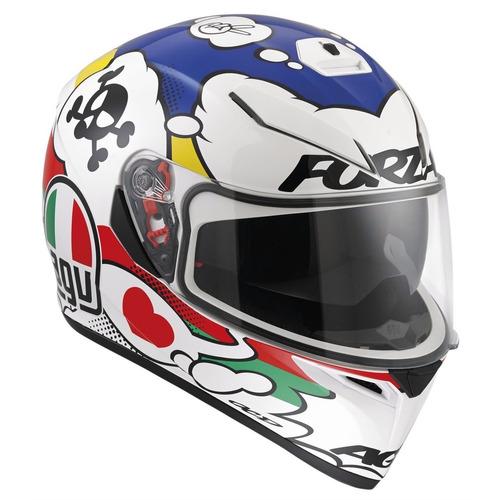 capacete agv k3 branco com viseira.